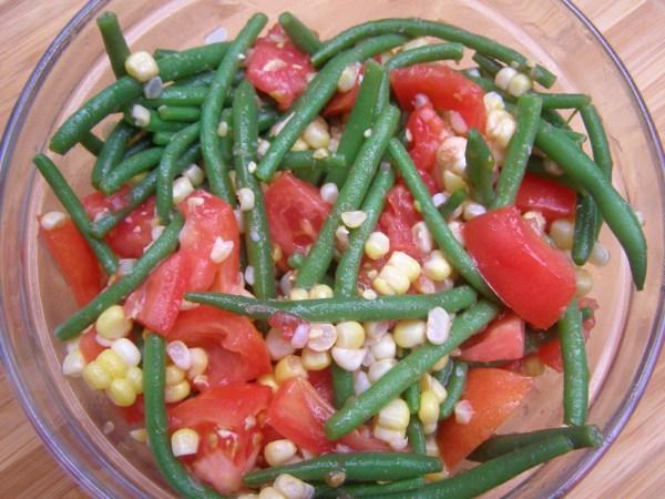 Green Bean, Tomato and Corn Salad