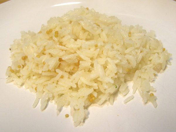 Jasmine rice with mustard seed