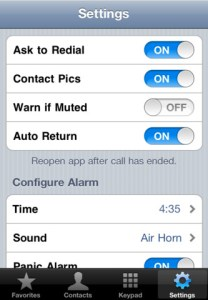 Configurar Call Timer iPhone