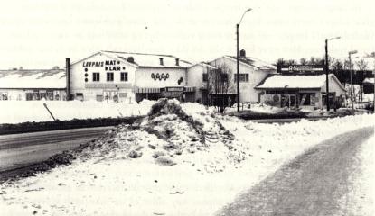 """Rolvsøys første stormarked, """"Råbekkhallen"""" etablerte seg i Rolvsøy Potteris lokaler midt på 1980-tallet"""