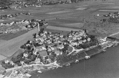 Flyfoto over Hauge mot Saxegaard