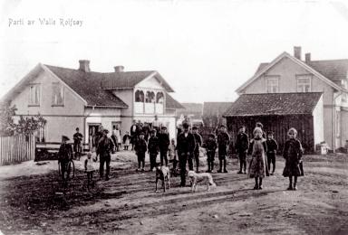 Joel Gabrielsens butikk i Elvenesveien, Valle i 1912