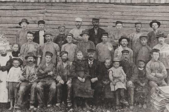 Evje teglverk ca 1905. Navneliste SGE:218.