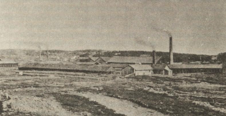 Evje teglverk på Rolvsøy, der tankanlegget i dag står