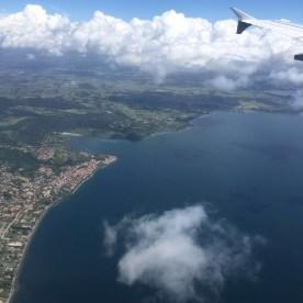 Anflug über Ostia