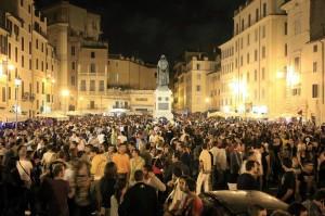 Movida violenta inferno a Campo de Fiori  Roma