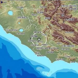 Scossa di terremoto di magnitudo 3,5 avvertita in città e ai Castelli Romani