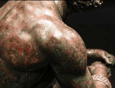 La statue du pugiliste Wikimedia © CC BY-SA 3.0