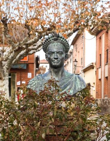Estatua de Teodosio el Grande. Coca.