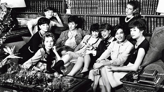 coco chanel with models