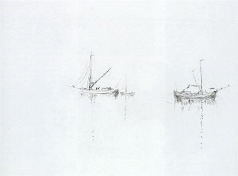emil-nolde-schiffe-bei-windstille-(auch-ruhende-schiffe)
