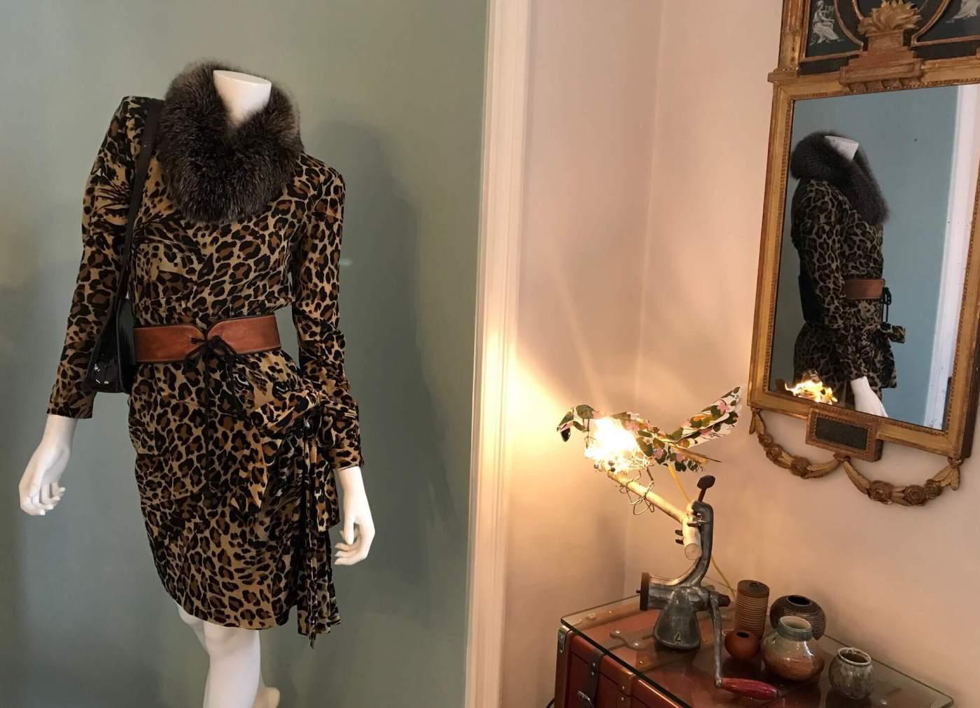 Leoparden Kleid Yves Saint Laurent