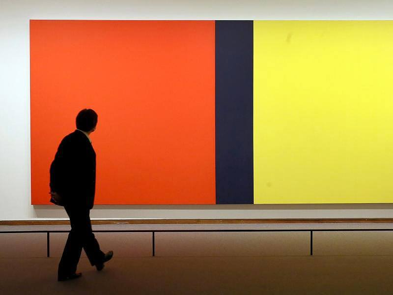 Ausstellungen-Barnett-Newmans-Who-s-Afraid-of-Red-Yellow-and-Blue-IV-1969-70-