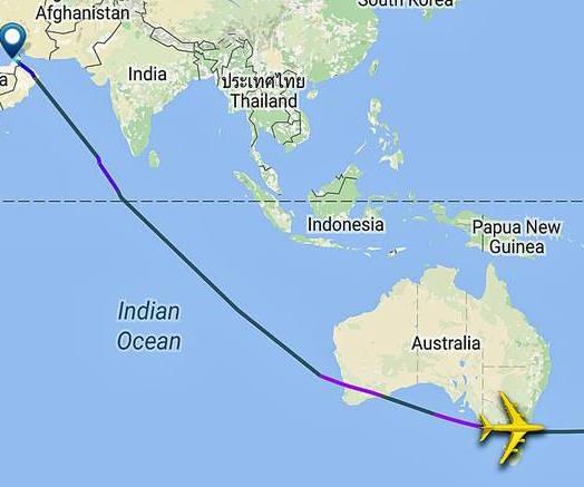 Emirates Flug Melbourne