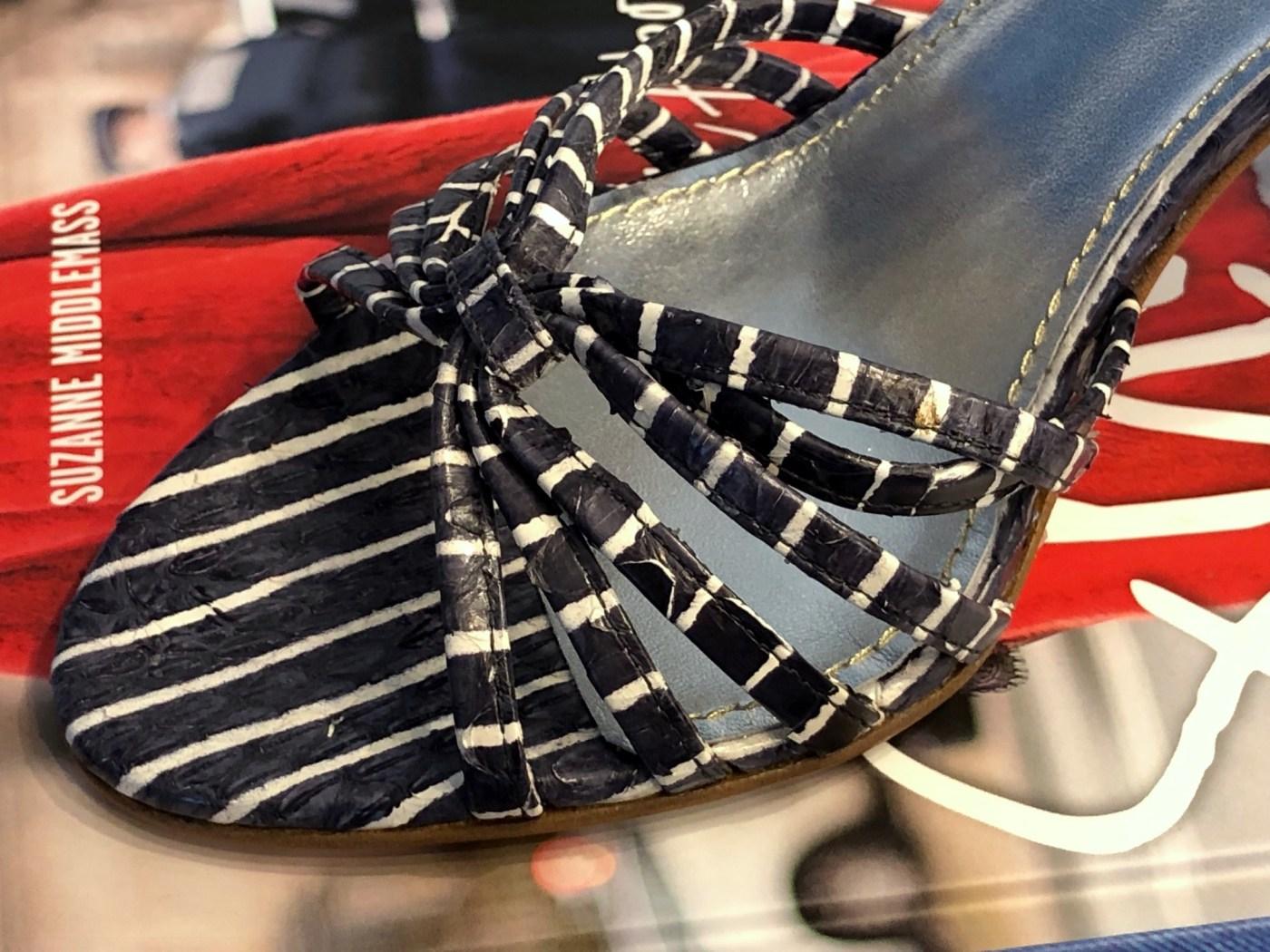 Pinstripe Sandale