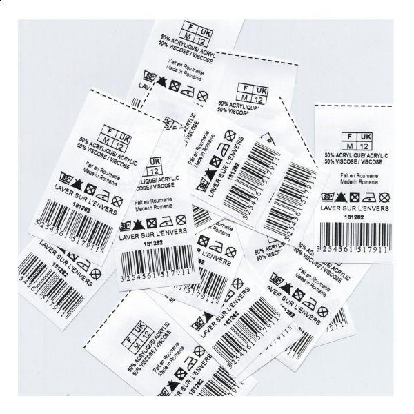 etichete tip resin