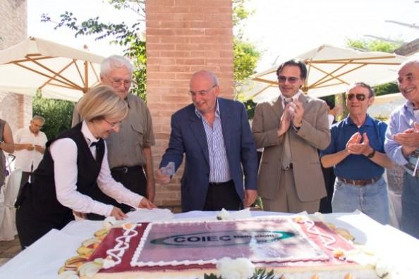 Alla festa per i 50 anni erano presenti i soci, i soci fondatori, i dipendenti e i collaboratori di COIEC