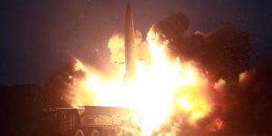 Νέα εκτόξευση πυραύλων από τη Βόρειο Κορέα
