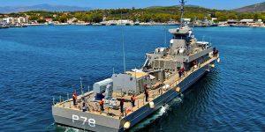 Στο Ναύσταθμο Σαλαμίνας η νέα πυραυλάκατος του Πολεμικού Ναυτικού (vid)