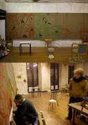 Studio - Bordeaux - Oil paintings - 2 x 6.6 m.