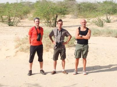 The team from left to right: me, Romain Provost, Aurélien Audevard