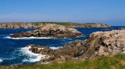 Ouessant coastline and sunny time