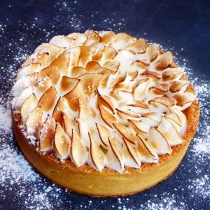 tarte au citron bergamote meringuée