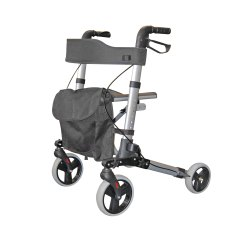 Folding Chair With Wheels Extra Wide Recliner 2465 City Walker Lightweight Rollator Roma