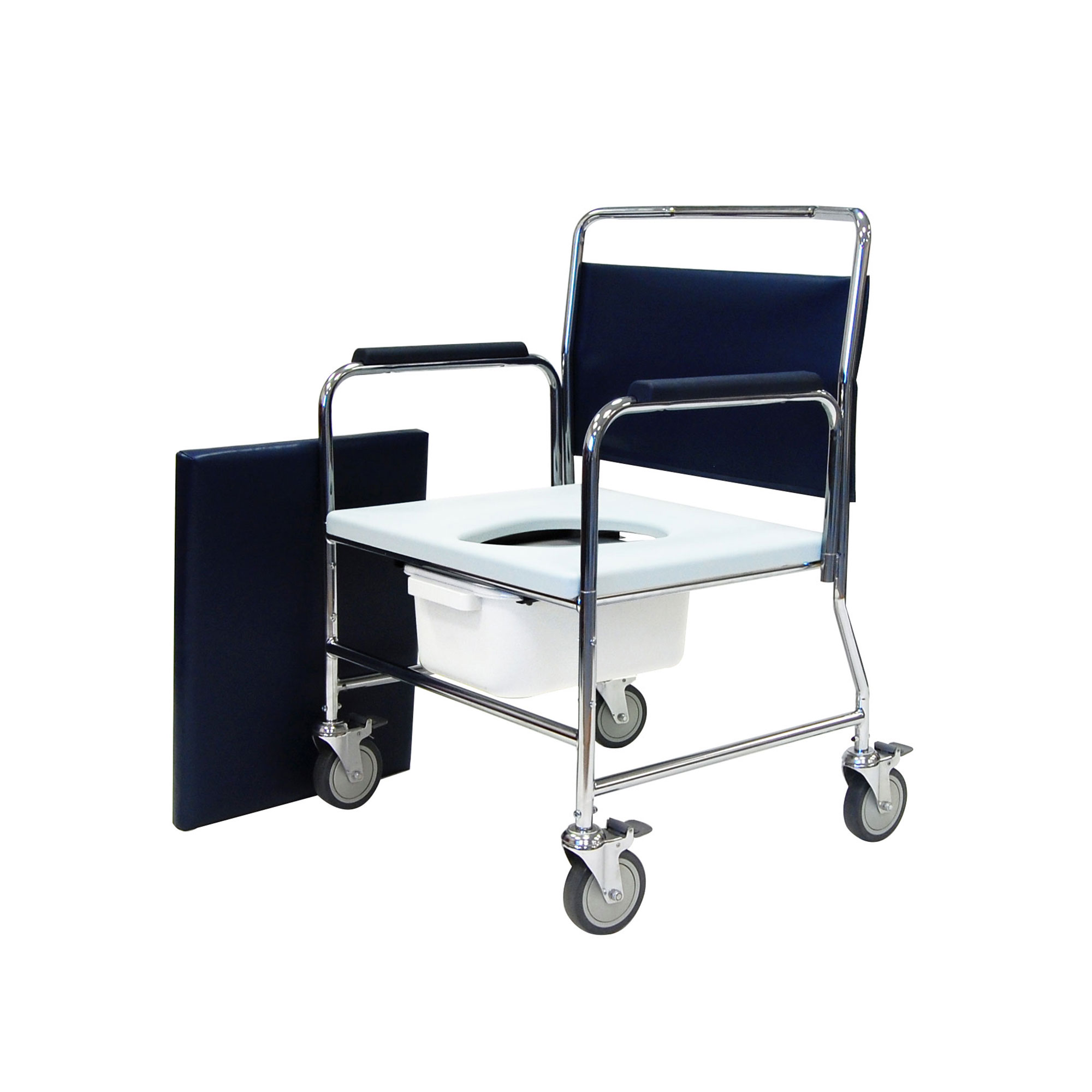 3375 4bc Heavy Duty Mobile Commode Chair Roma Medical