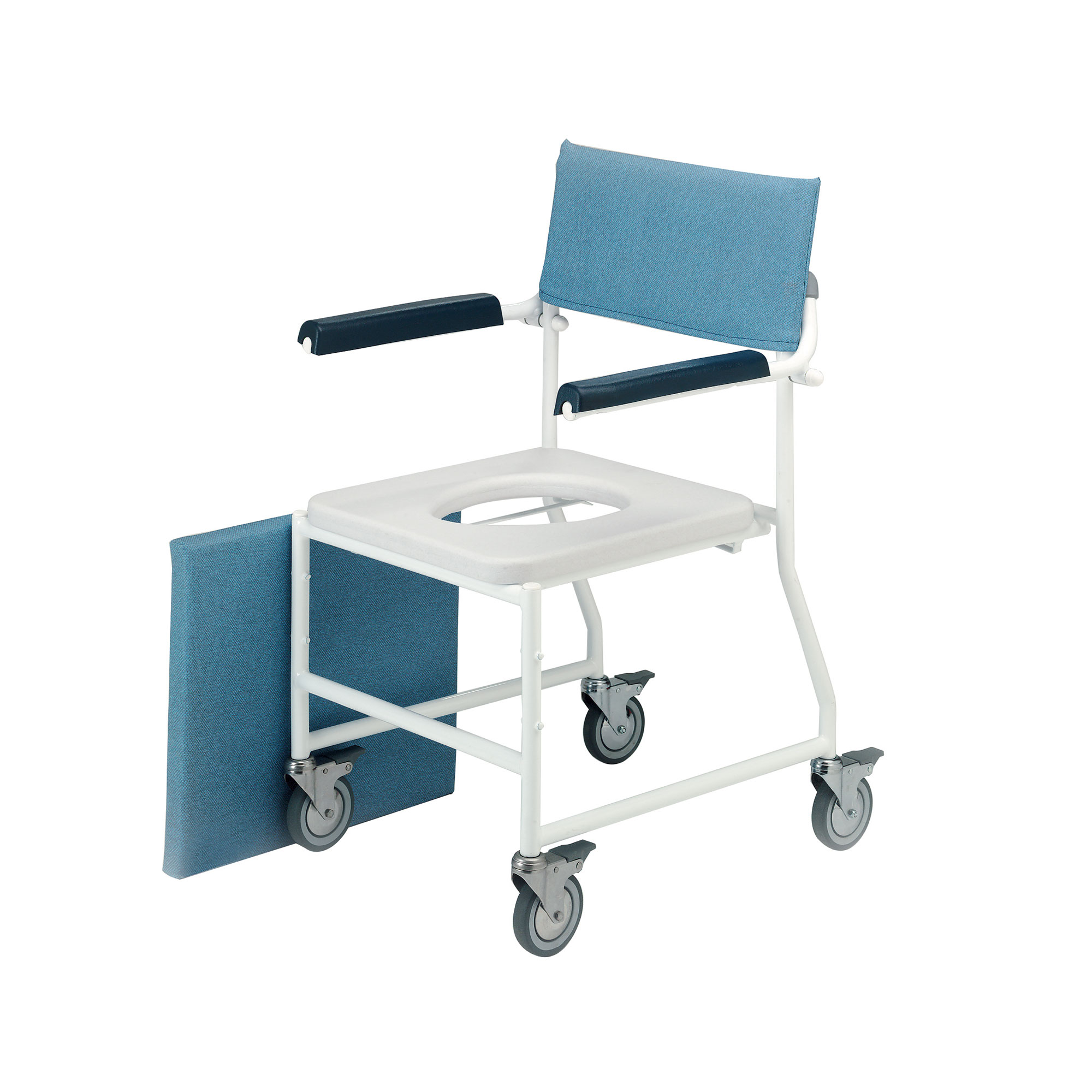 shower chair with wheels and removable arms folding lounge canada 4140 4bc dual mobile roma medical