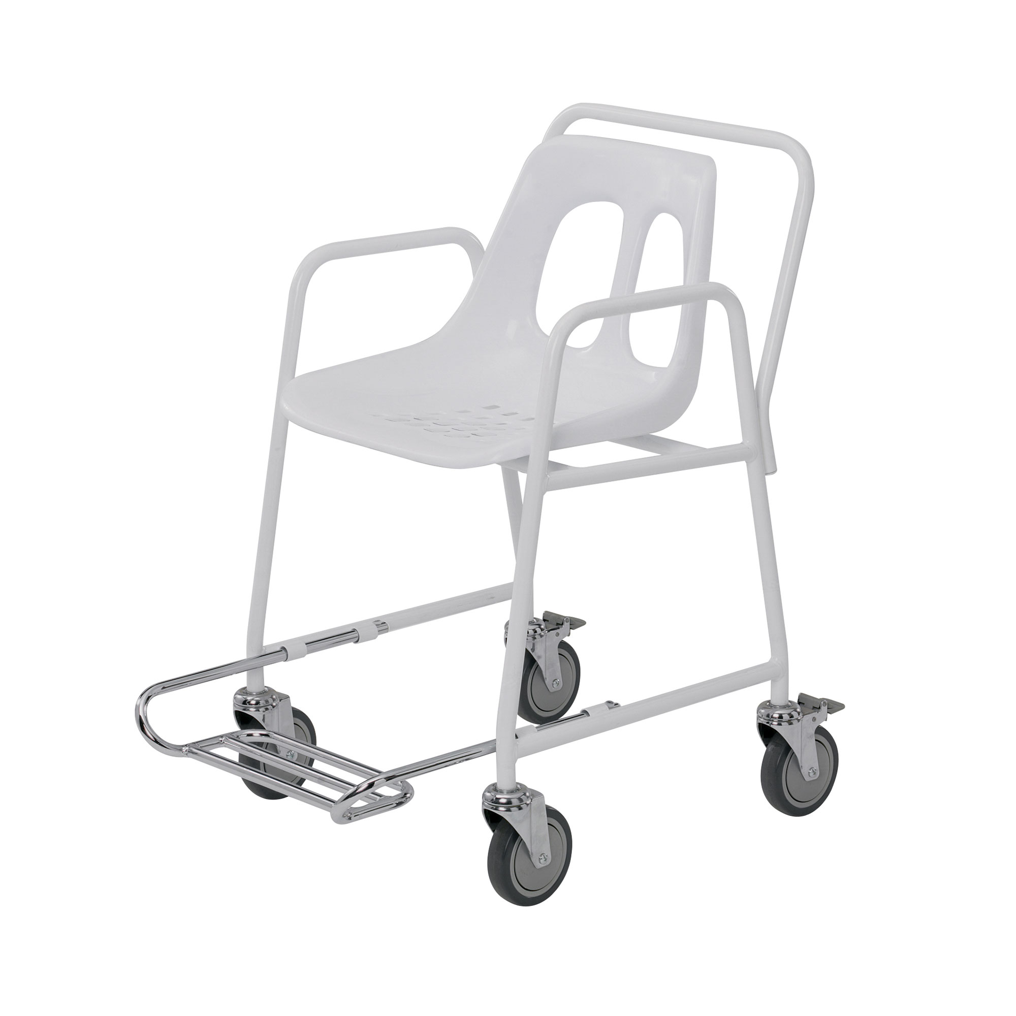 4550 FR Mobile Shower Chair with Footrest Roma Medical