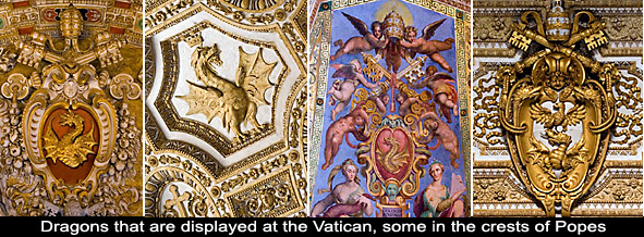 Revelation 13 says that Satan the dragon gives authority to the antichrist beast, yet there's many dragons at the Vatican