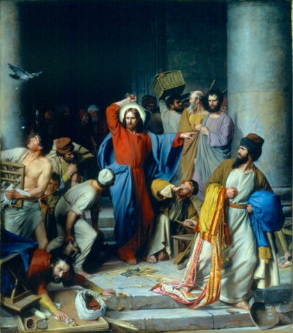 Casting out the money changers