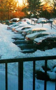 Dug out, cars can't get out.