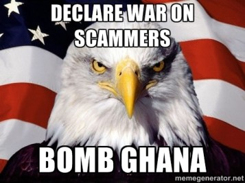 Declare War On Scammers Bomb Ghana