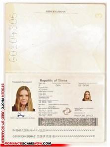 SCAMMER: Helen Azumah Accra Ghana - Fake Document