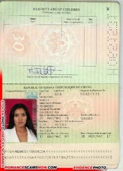 Rashida Bance - Ghana Passport H0651531