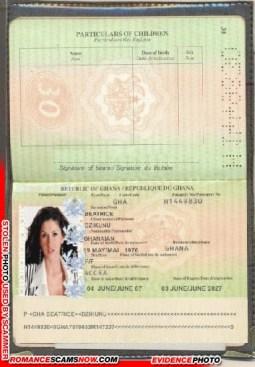 Dzikunu Beatrice - Ghana Passport H1449830