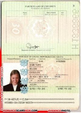 Bojisah Hamis Taufic - Ghana Passport H1838866