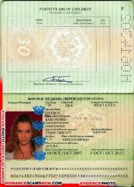Tiffiny Rabi Osuma - Ghana Passport H0614302
