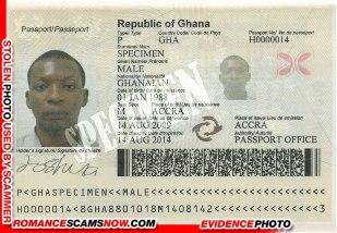 Scam Passport - Male Specimen - Ghana Passport H0000014