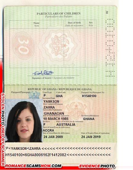 ZAHRAA YANKSON - Ghana Passport H1540100