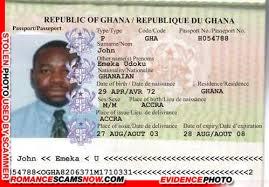 Eneka Odoku John - Ghana Passport H054788