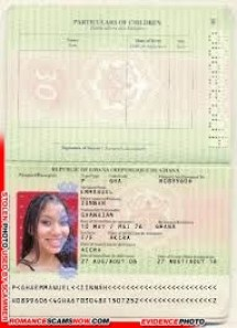Fake Ghana Passport H0839806