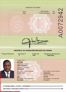 Fake - John Dramani - Ghana Passport A0072942