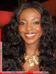 Chinyere Yvonne Okoro from Ghana - Ghana Actress used by Scammers
