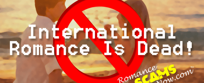 International Romance Is Dead Banner