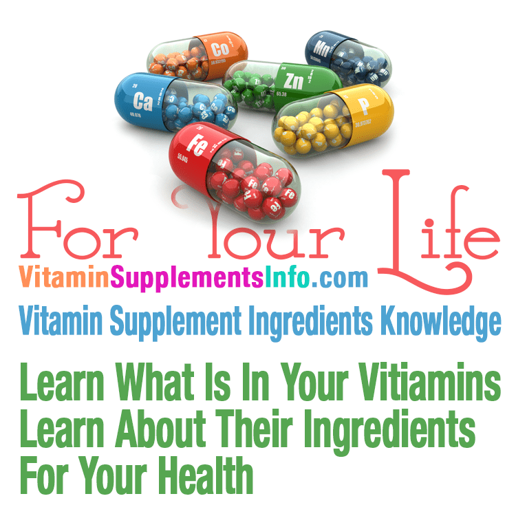 Free Vitamins, Minerals, Supplements Ingredients Info & Knowledge
