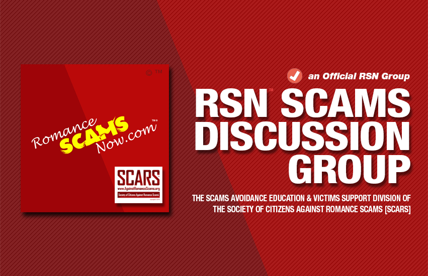 RSN™ Scams & Scammers Discussion Group on Facebook
