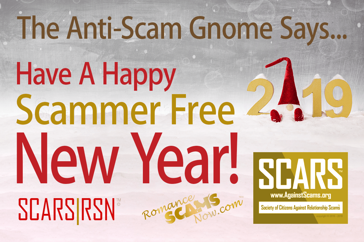 The Anti-Scam Gnome Says Have A Happy Scammer-Free New Year!